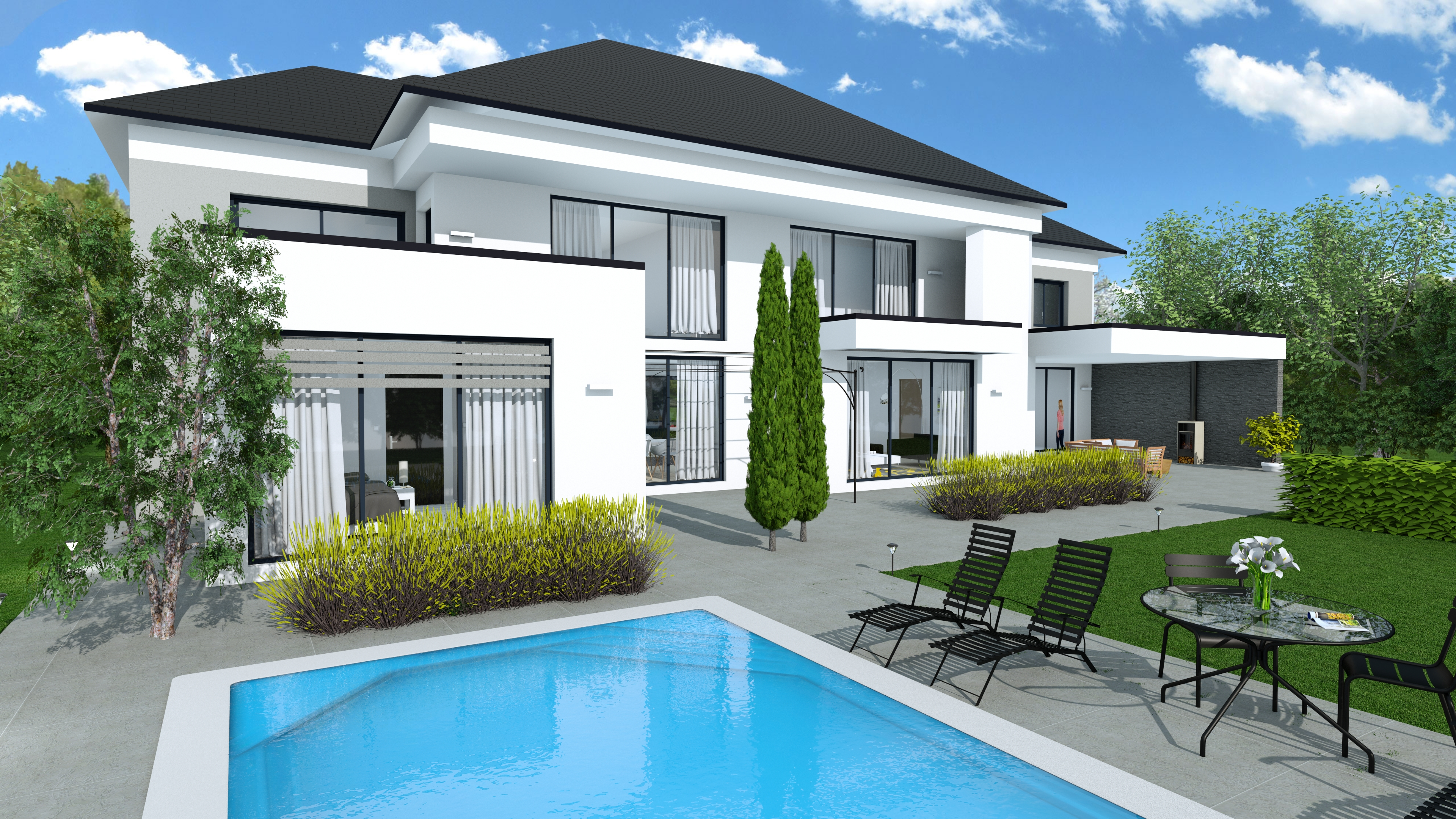 Garden planner design remodel exteriors in 3d with for Exterieur maison 3d