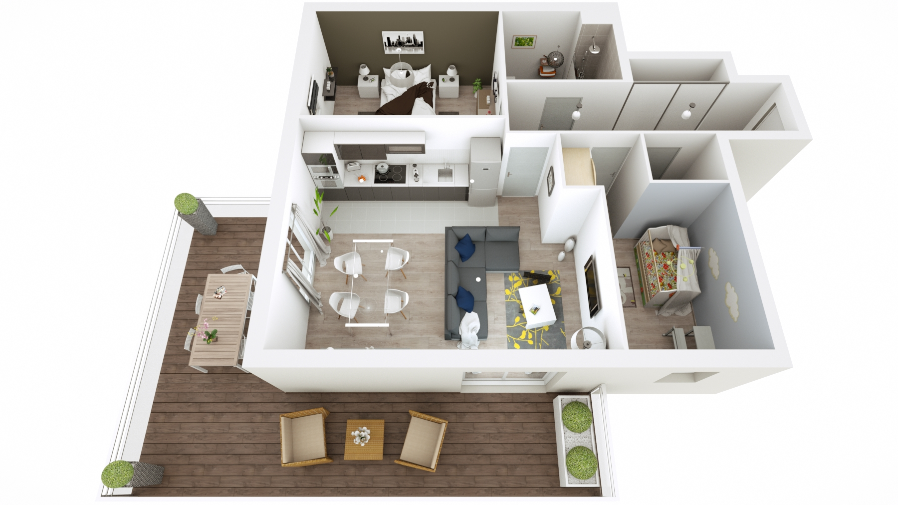 Attractive Floorplan Birdseye 01