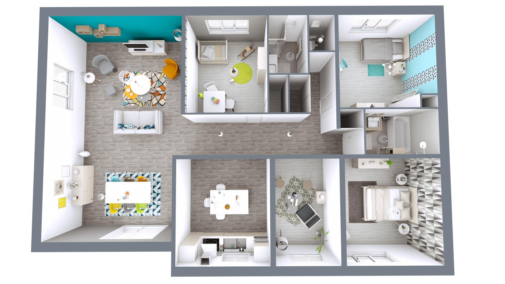 Boost your sales with hq 3d floor plans using cedar architect 3d architectural floor plans